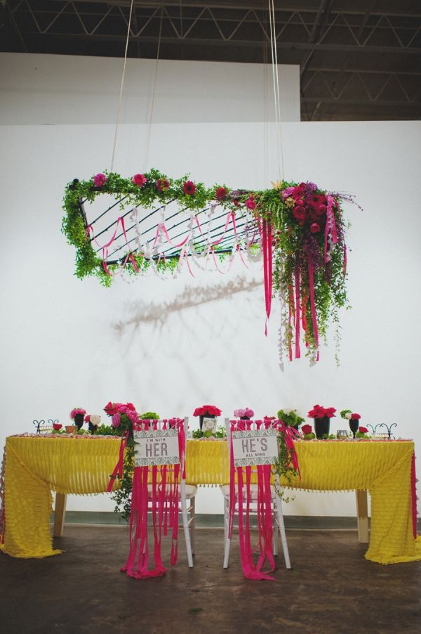 bright floral reception // photo by O'Studios Photography