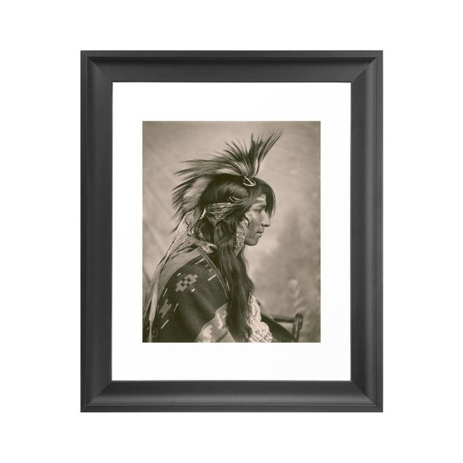 This powerful 1903 portrait of a Cree native in dazzling full regalia is a striking addition to your space. In warm sepia tones, the print has a timeless feel despite the age of its source.  This galle...  Find the Cree In Profile Photo Art Print, as seen in the At the Trading Post  Collection at http://dotandbo.com/collections/at-the-trading-post?utm_source=pinterest&utm_medium=organic&db_sku=100503