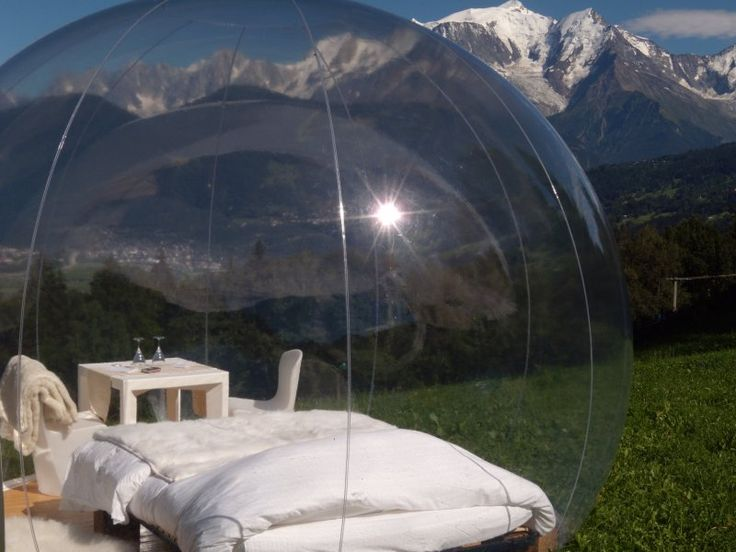 half transparent inflatable dome tent for sight-seeing