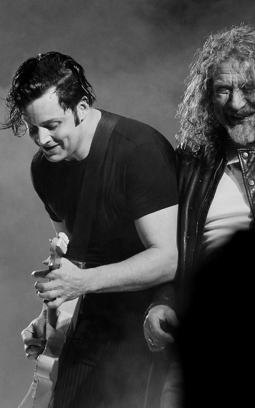 Jack White and Robert Plant. My husband & my old man boyfriend.