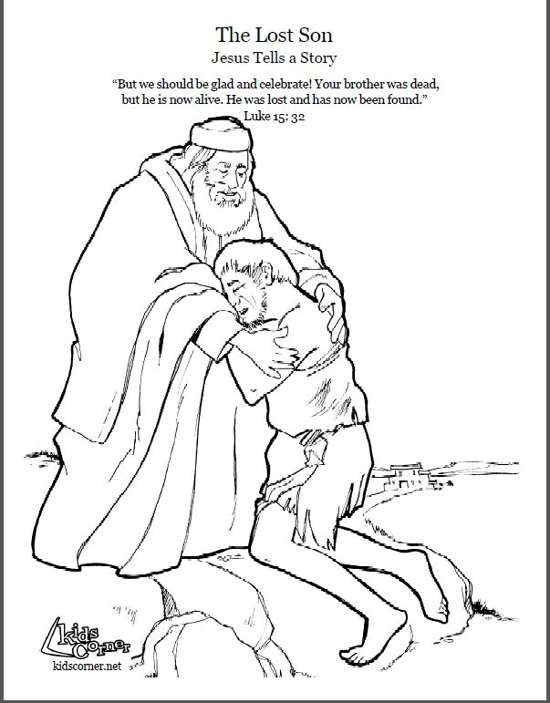 38 best bible coloring pages images on pinterest for Prodigal son coloring page for preschoolers