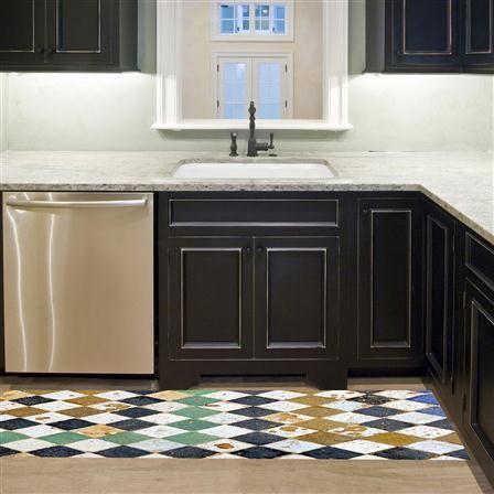floorart tapis en vinyle 66 x 180 cm square tiles nos encanta gustar pinterest. Black Bedroom Furniture Sets. Home Design Ideas