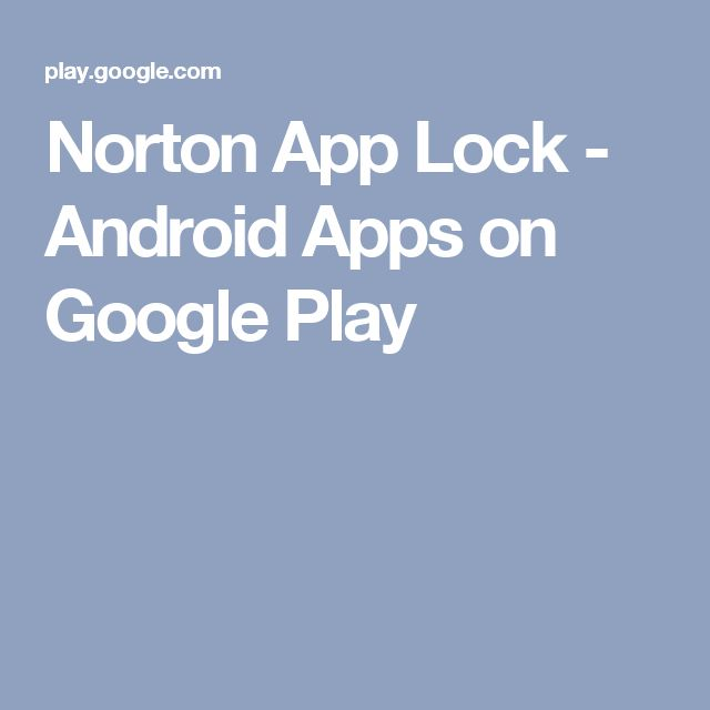 Norton App Lock - Android Apps on Google Play