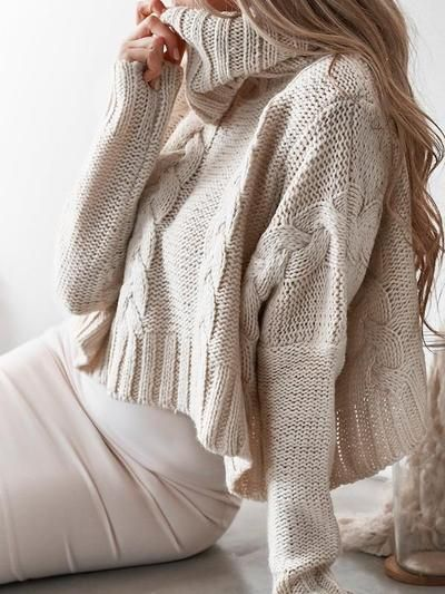 6f4d91d2819c Oversize Turtleneck Crop Knit Sweater - Hera Legacy