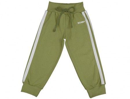 Pantalonaşi cu bandă lată în talie frunze de anghinare-alb 100% bumbac | Cod produs: NID147
