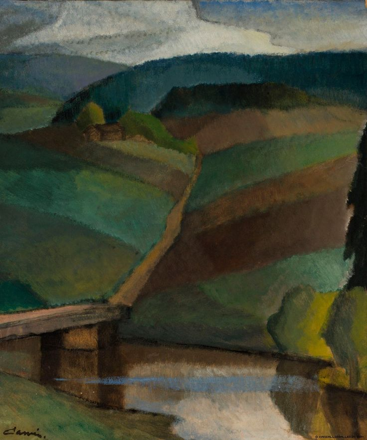 Alvar Cawén: River Landscape [n. 1916]