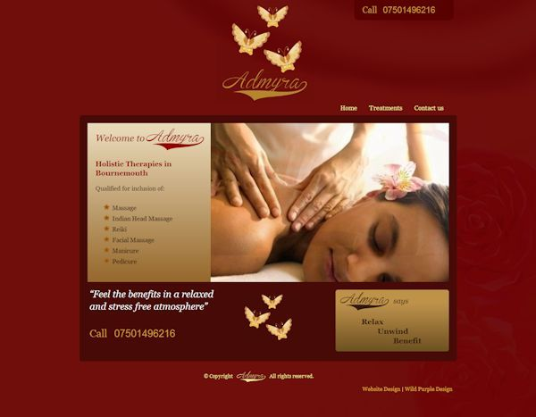 holistic therapy website design