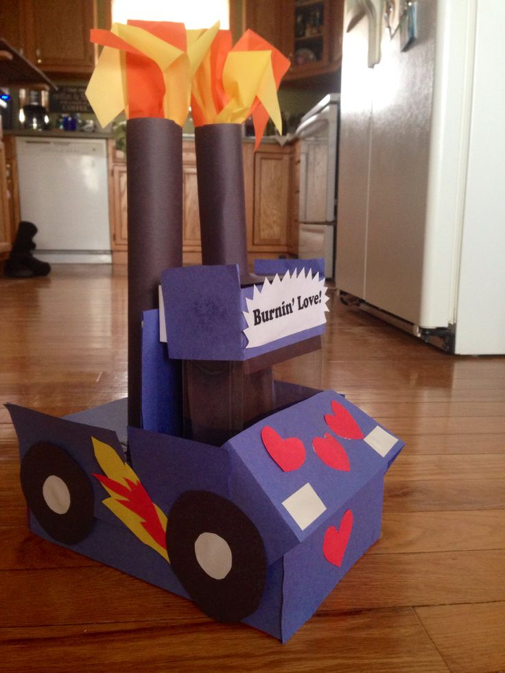 Monster truck valentines day box...instead make into jacked up 4x4