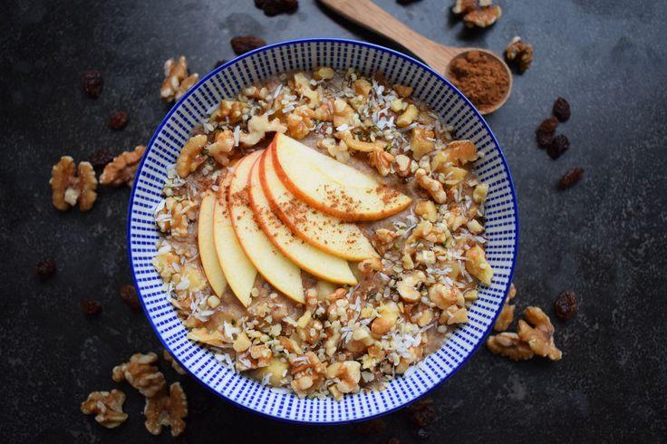 Blackbirds and Cakes - Vegan ontbijt recept voor appeltaart havermout