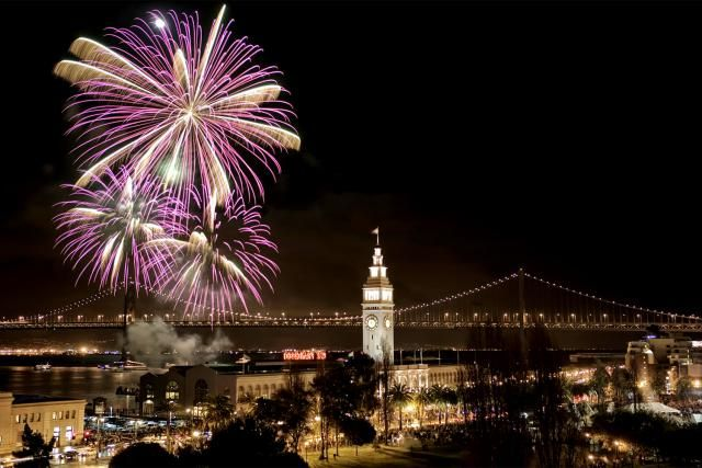 Guide to New Year's Eve events in San Francisco California - fireworks, parties, cruises and ways to celebrate for non-dancers and non-drinkers