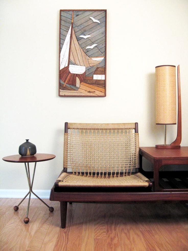 Albert Larsson Danish Modern Side Table - Tripod Teak Table - Alberts Tibro, Sweden. $329.00, via Etsy.
