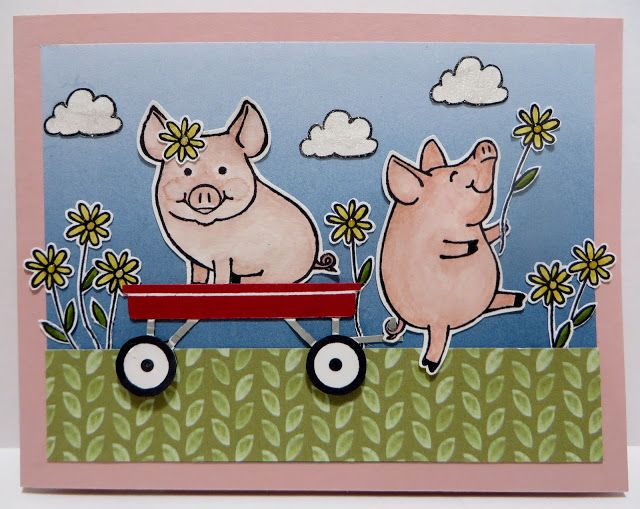 Lynn's Locker: Stampin' Up! This Little Piggy, Grown with Love, Label Me Pretty, Color Theory, Delightful Daisy, Daisy Punch, Pretty Label Punch
