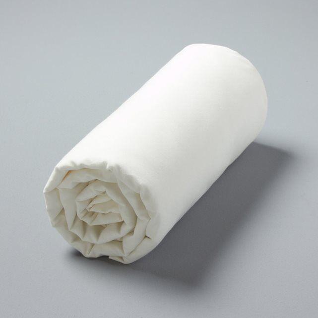 Drap-housse Gypse, voile de coton lavé bourdon AM.PM