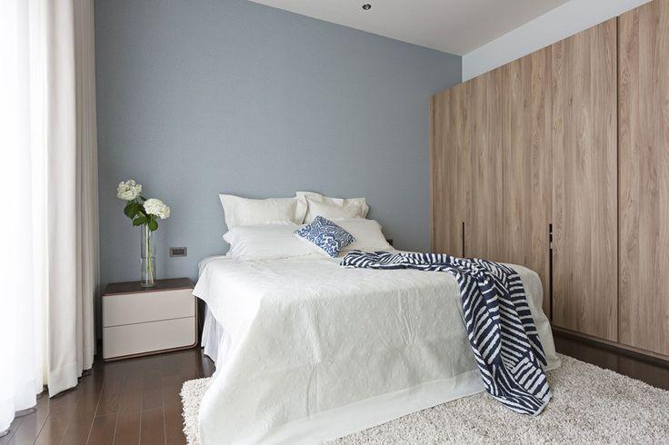 Blauw/grijze kleur icm licht hout vind ik erg mooi!