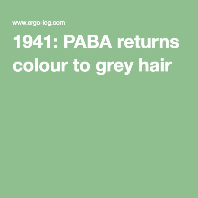 1941 Paba Returns Colour To Grey Hair