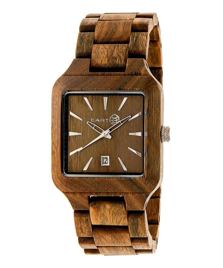 EARTH wood watches Olive Arapaho Bracelet Watch by EARTH wood watches #zulily #zulilyfinds