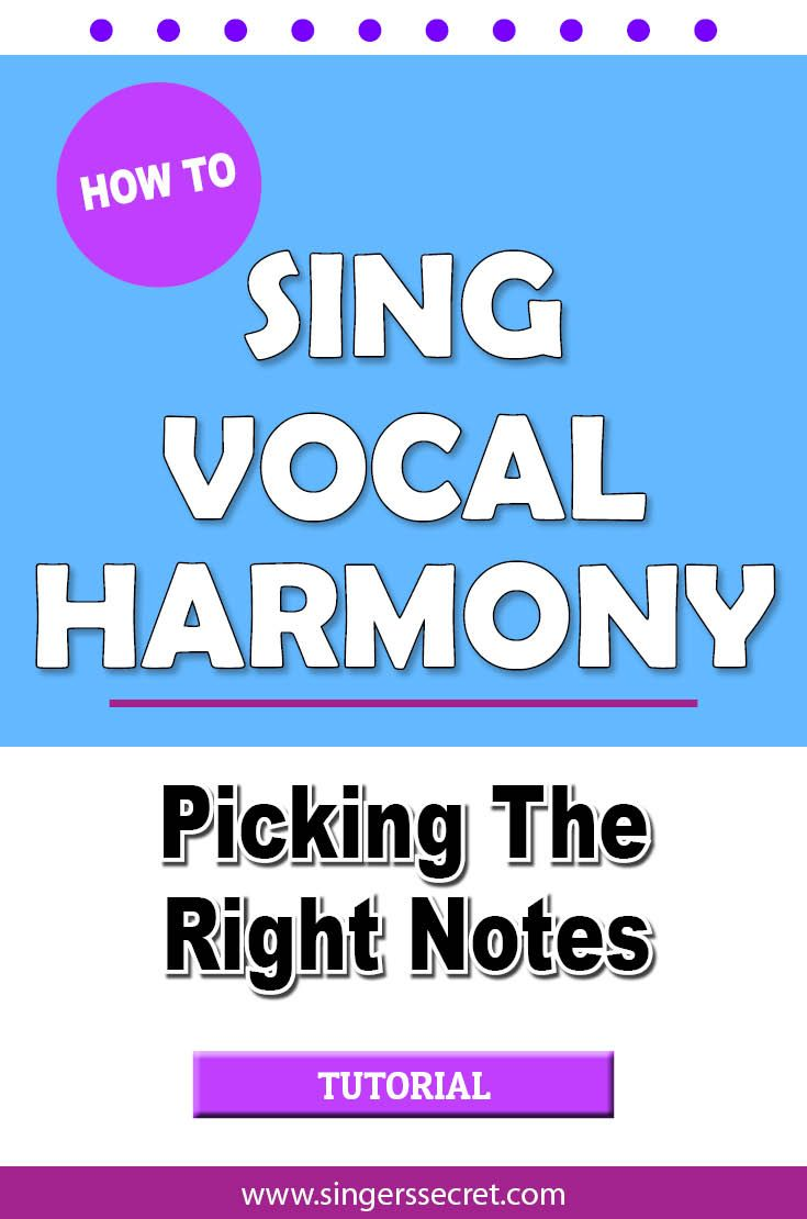 Two tricks to help you sing vocal harmony and avoid hitting bum notes. http://singerssecret.com/how-to-sing-vocal-harmony/ #singing #singingtips