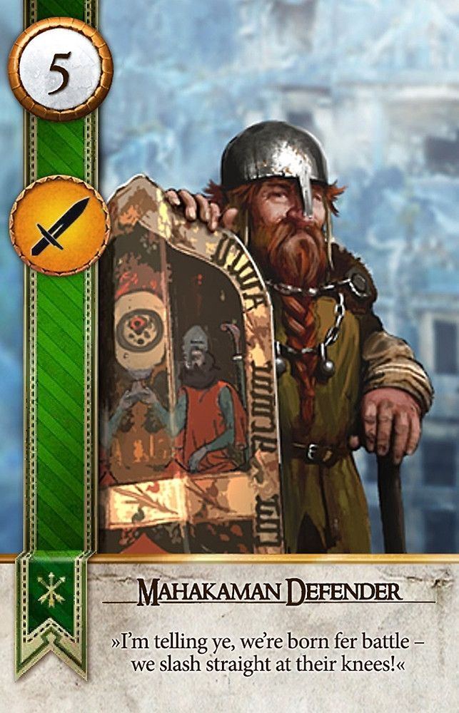 Mahakaman Defender (Gwent Card) The Witcher 3 Wild Hunt