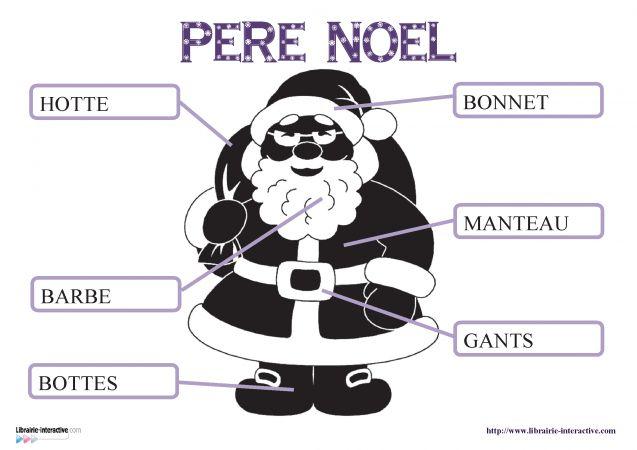 01 vocabulaire pere noel 1 ecole noel christmas noel et christmas worksheets - Christmas cycle 3 ...