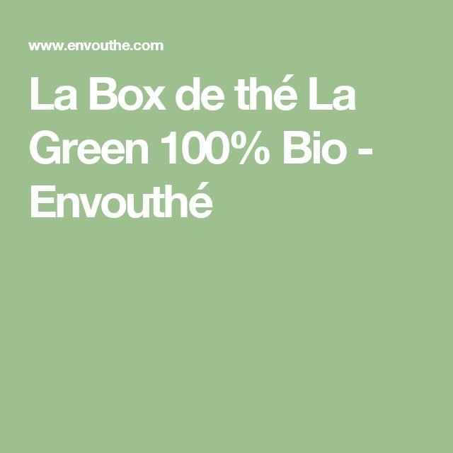La Box de thé La Green 100% Bio - Envouthé