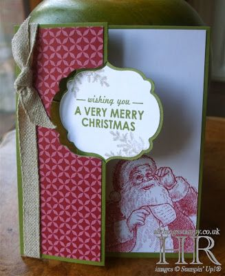 All Things Stampy: Santa's List label Thinlits card - simple and stepped-up