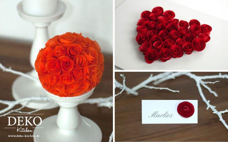 DIY: Rosen aus Servietten oder Papier selber machen: www.deko-kitchen.de