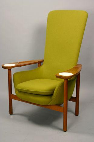 MCM Green Hi-Back Chair