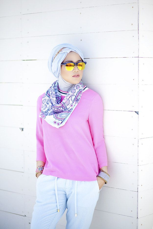 Use a lot of shades of one color. | 23 Seriously Beautiful Hijab Styles To Try
