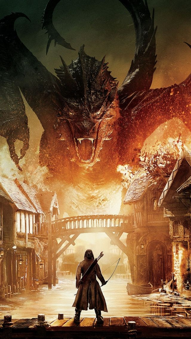Download Free Hd Wallpaper From Above Link Smaug Thehobbit Film Movie Poster In 2020 The Hobbit Smaug Dragon Hobbit Dragon