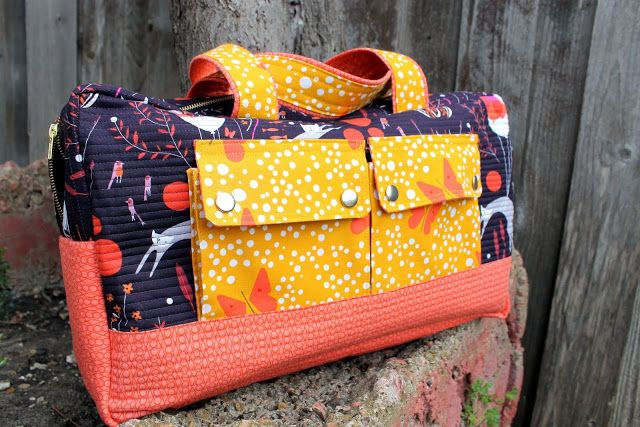 cargo duffle by Noodlehead, sewed by Dandelions and Lace