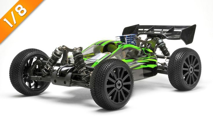 Iron Track  Firestone 1:8 Scale ARTR 4WD Buggy with GO .21 Nitro Engine (Green)