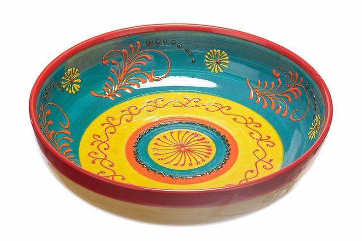 fruitschaal in handgemaakt keramiek