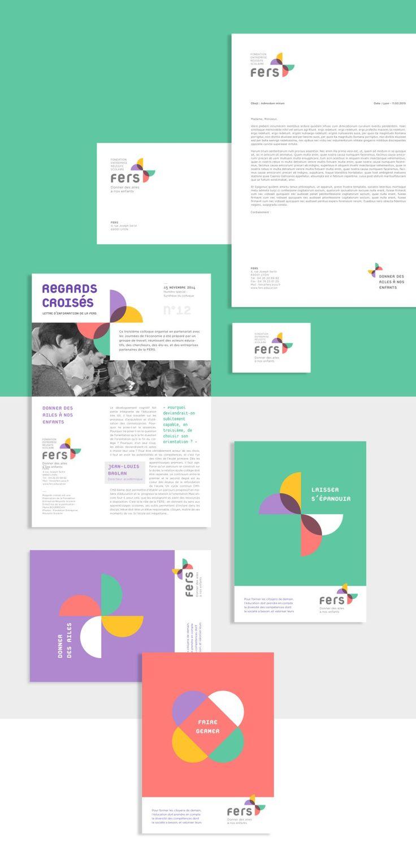 Relookage de l'Identité visuelle de la Fondation FERS (Fondation Entreprise Réussite Scolaire). Un logo pour donner des ailes à nos enfants.