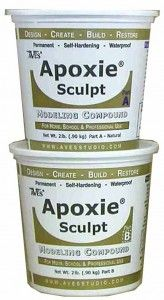 Epoxy Clay -- Magic Sculpt and Apoxie Sculpt. Two types of craft clay that harden without firing, do not shrink, and cure within 3 hours regardless of moisture or weather. I've seen people make really cool stuff with it.