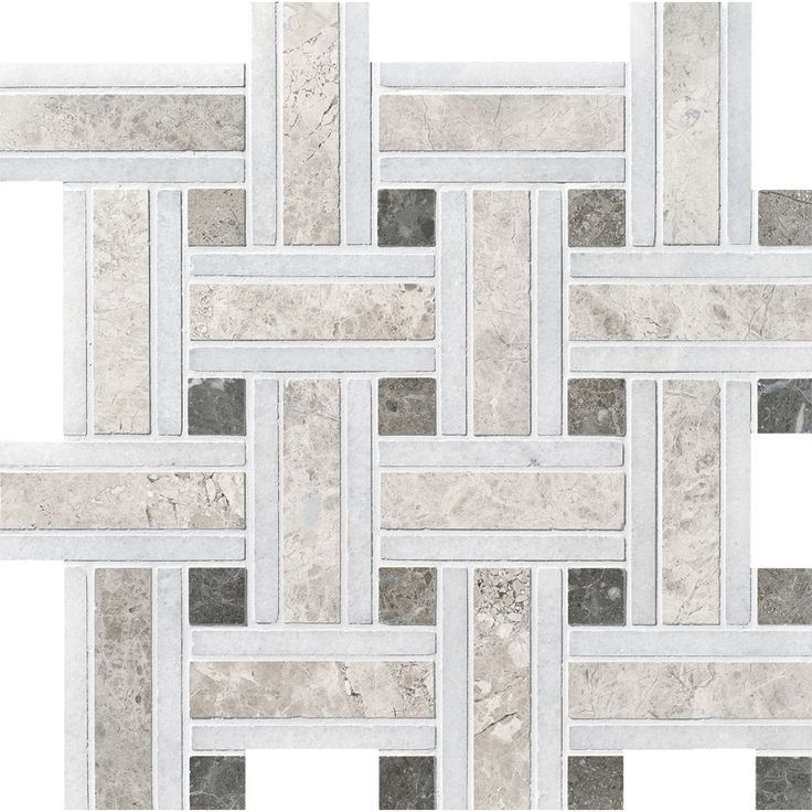Silver Shadow Honed Lattice Marble Mosaics 12x12 Marble Mosaic Marble Mosaic Tiles Mosaic Tiles