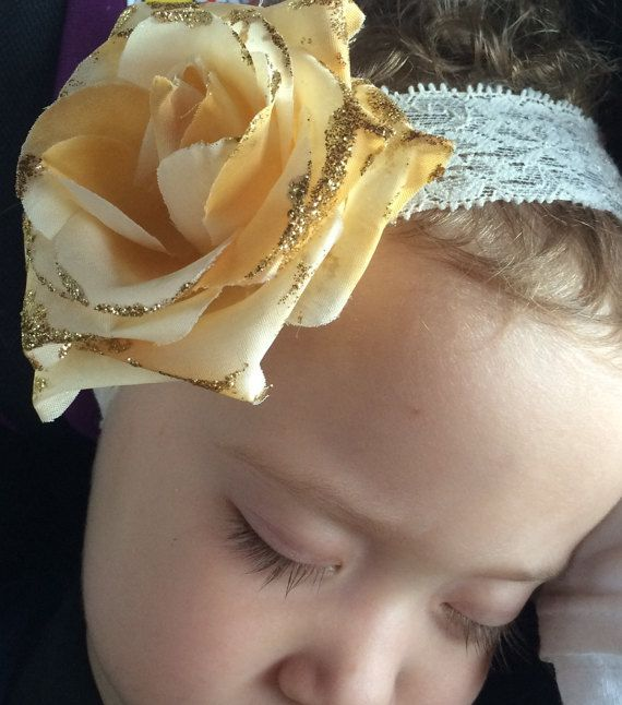 Peach headbandbeige headband beige and gold gold by BazzyBears