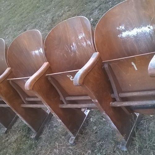 Old cinema chair- future schabby