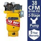 Industrial Plus Series 80 Gal. 10 HP 1-Phase Vertical Electric Air Compressor