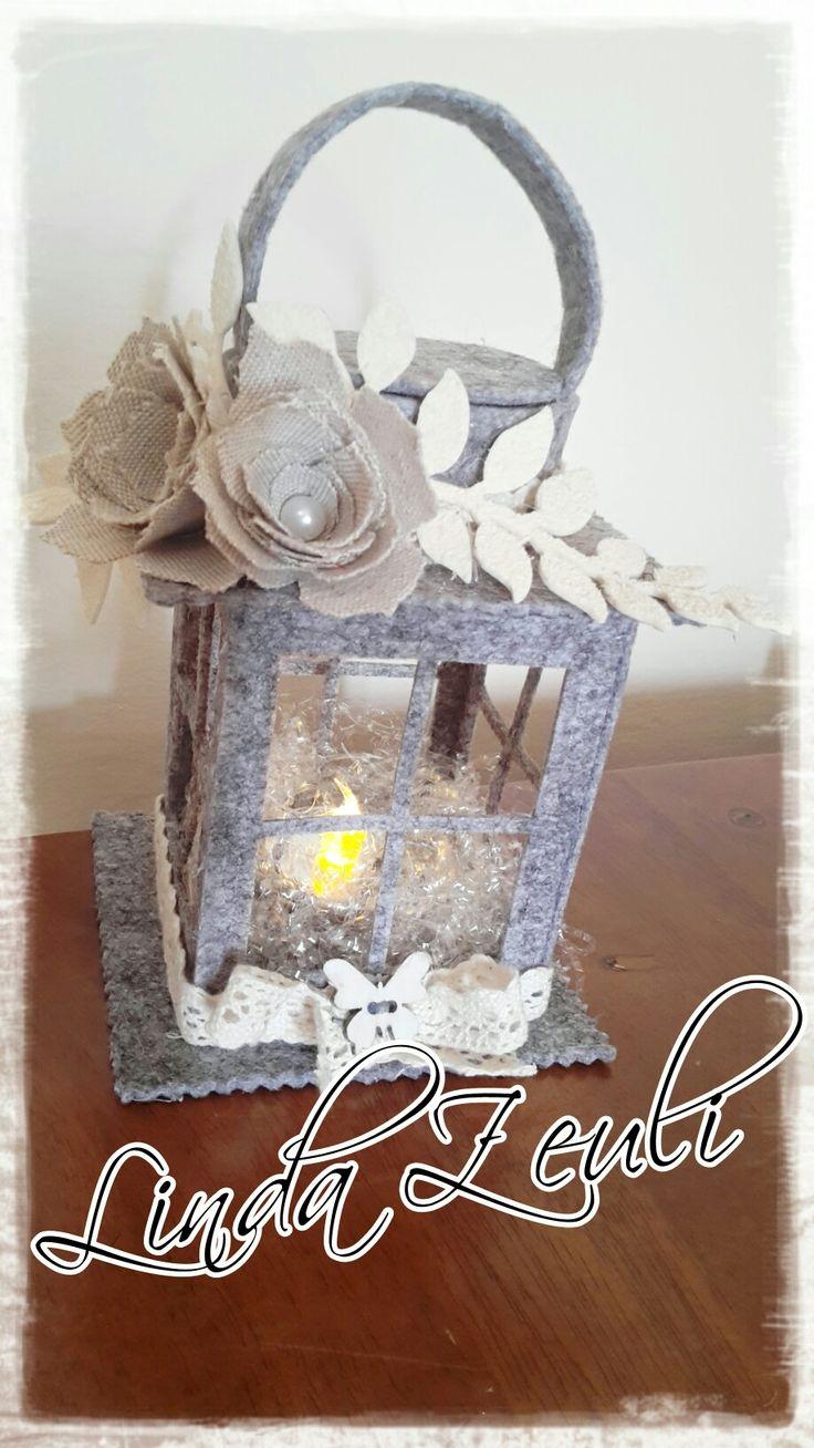 Lanterna in feltro handmade