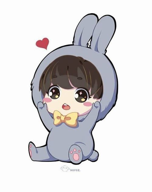 Image result for jeon jungkook chibi easy | Jungkook ...