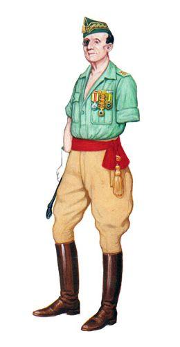 La Legión Española (conocida popularmente como «La Legión») es una fuerza militar dirigida y creada en 1920 por José Millán-Astray, encuadrada dentro de las fuerzas ligeras del Ejército de Tierra E…