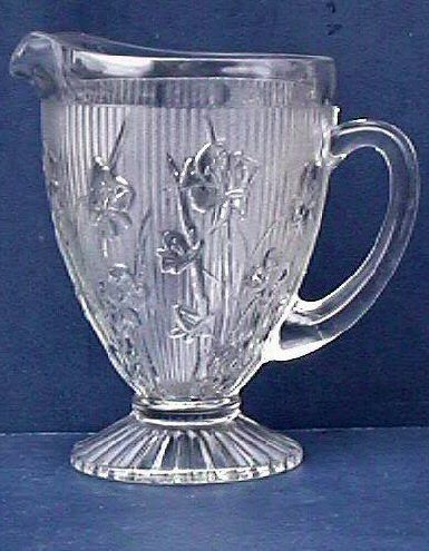 Iris Crystal Water Pitcher Depression Glass - watch out for reproductions on this design