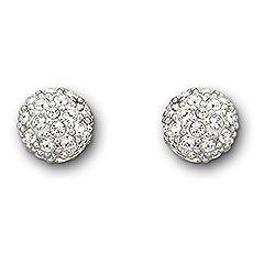 Swarovski Emma Boucles d'Oreilles -Élégante et féminine, cette paire de boucles d'oreilles plaquées rhodium brille à travers son scintillant pavé de cristal clair. Ces boutons se portent facilement la