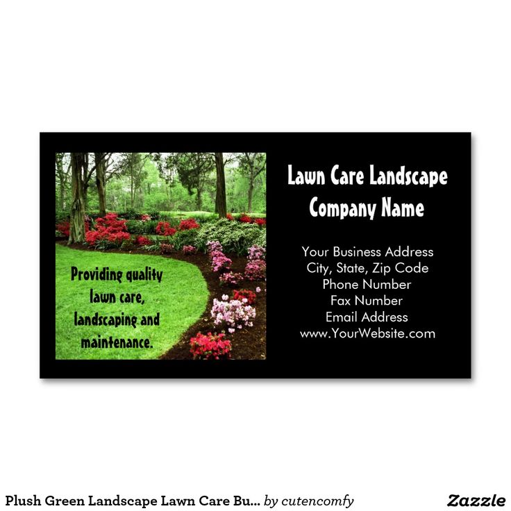 Lawn Service And Landscape: 17 Best Images About Business Cards: Landscaping On