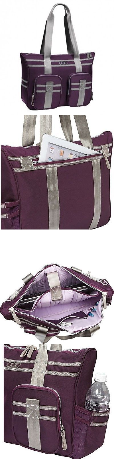 Briefcases and Laptop Bags 169293: Lisbon Business Tote In Plum And Gray Briefcase Work Women Laptop Purple Bag -> BUY IT NOW ONLY: $99.95 on eBay!