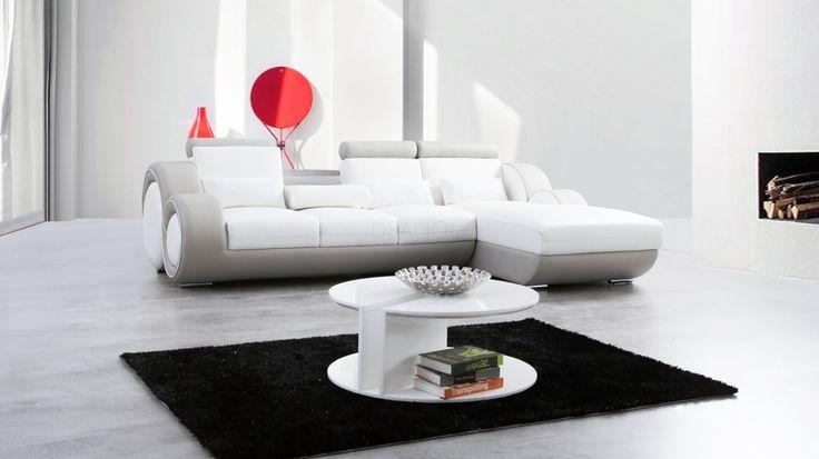 Unwind Leather Chaise Lounge Option C - Lounge Life
