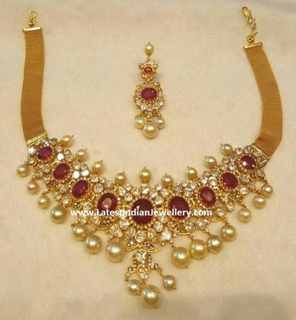 Vintage Solid 22 Carat Gold Necklace Earring Pair Set: 1000+ Images About Aabharan On Pinterest