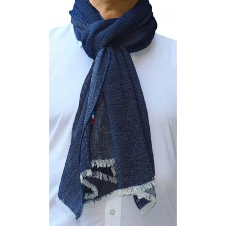 Foulard Écharpe Homme King - Cachemire & coton - Made in France - Idée cadeau pour la fête des pères