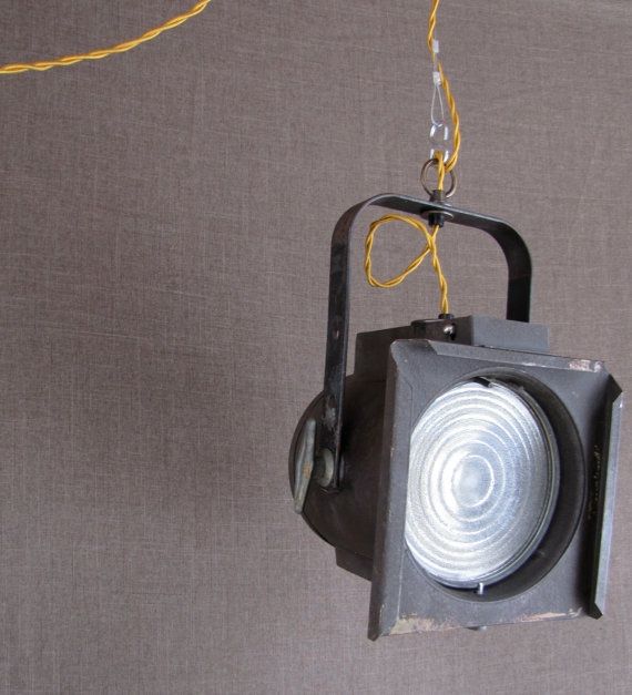Vintage Theater Pendant Light Fixture