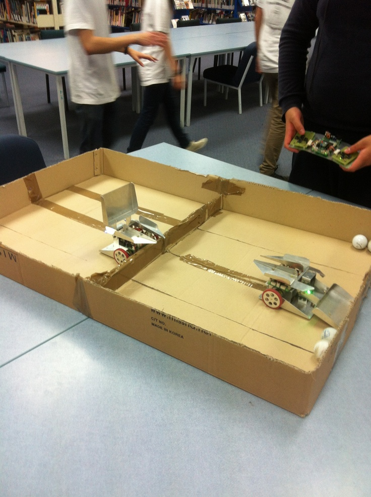 Two robots, built by one of our ACG Senior College students.